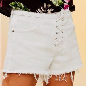 Express mid rise shortie lace up shorts NWT